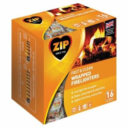 Zip Fast And Clean Wrapped Firelighter 16 Cube + Free When In Stock