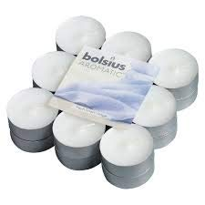 24 X Bolsius Aromatic Fresh Linen 4Hr Tealights Candles