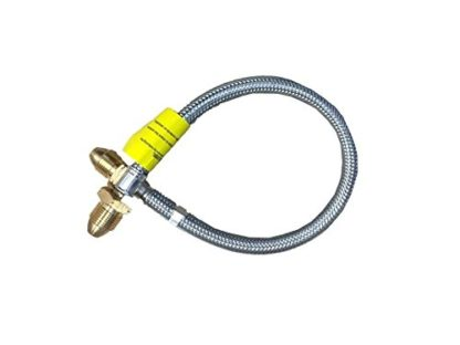 "Calor Gas Brand 0.75M (30"") Pol X Pol Armoured Gas Hose Pigtail 5 Year Warranty"