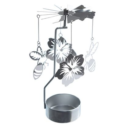 Bee & Flower Tealight Powered Metal Spinning Decoration (Spin 35)