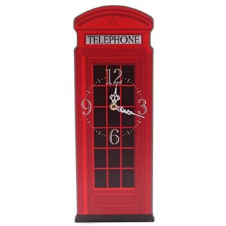 Ted Smith Red Telephone Box Shaped Picture Clock (Ckp52)