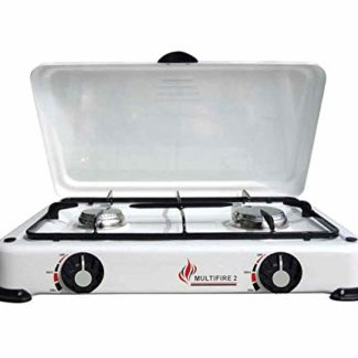Multifire 2 Double Burner Camping Cooker For Butane Or Propane