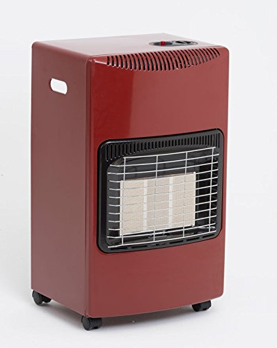 Lifestyle Seasons Warmth Red Mobile Cabinet Heater Calor Gas Mobile Heater