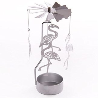 Flamingo Tealight Powered Metal Spinning Decoration (Spin16)