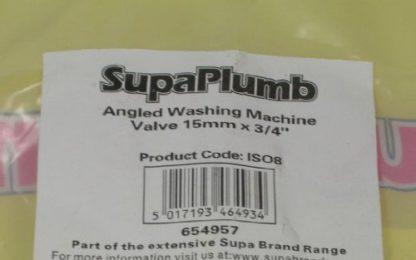 """Washing Machine 90 Degree Valve 15Mm X 3/4"""""""