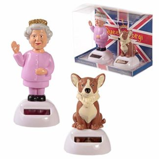 Queen And Corgi Solar Pals Set (Ff104)