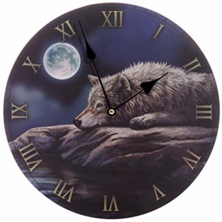 Lisa Parker Quiet Reflection Wolf Wall Clock (Ckp60)