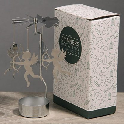 Cupid Tealight Powered Metal Spinning Decoration (Spin18)