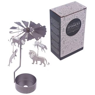 Zoo Tealight Powered Metal Spinning Decoration (Spin30)
