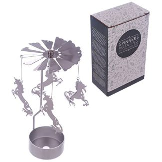 Unicorn Tealight Powered Metal Spinning Decoration (Spin 29)