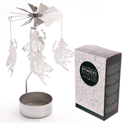 Fairy Tealight Powered Metal Spinning Decoration (Spin06)