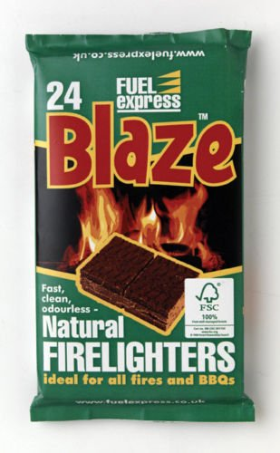 Blaze Natural Firelighters For Bbq Fires & Chimineas