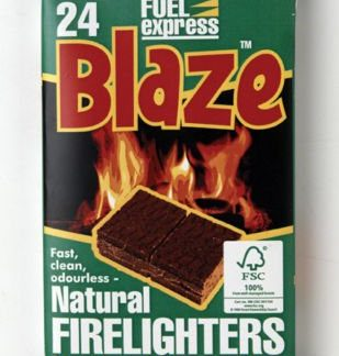 5 Packs Of 24 Blaze Natural Firelighters For Bbq Fires & Chimineas