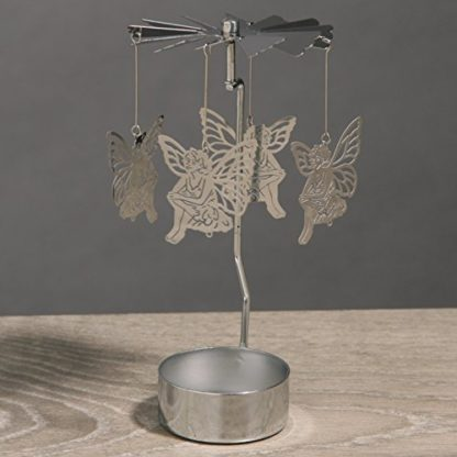 Sitting Fairy Tealight Powered Metal Spinning Decoration (Spin20)