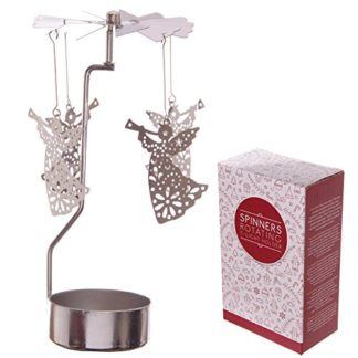 Angel Tealight Powered Metal Spinning Decoration (Xspin03)