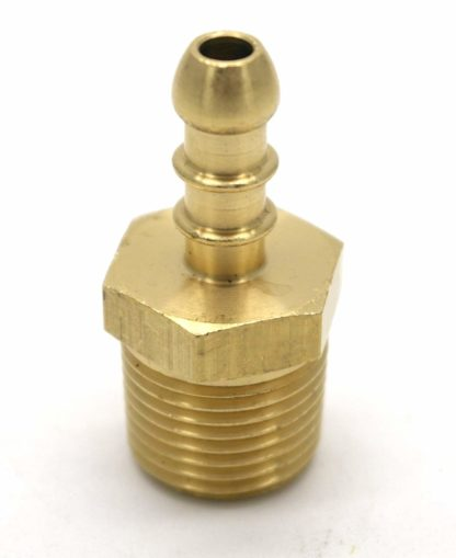 "British Made 1/2"" Bspt Male Fitting To Lpg Fulham Nozzle To 8Mm I/D Hose (30)"
