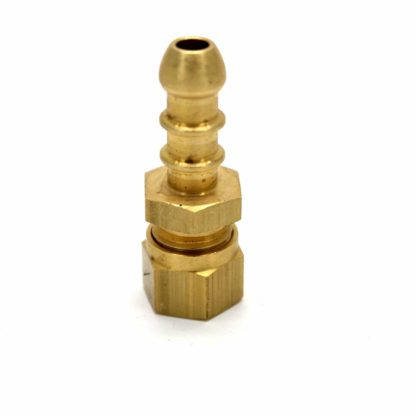 5 X 8Mm British Made Compression Fitting To Fulham Nozzle For 8Mm I/D Hose (70)