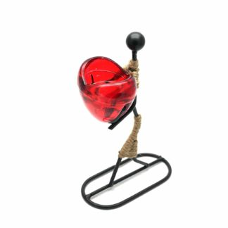 Girl / Woman Gives Heart Tea Light Romantic Candle Holder (Romch-13)