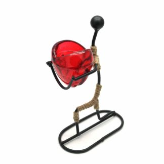 Man Gives Heart Tea Light Romantic Candle Holder (Romch-14)