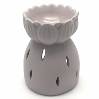 Beige Lotus Flower Oil Burner (Ob_54435)