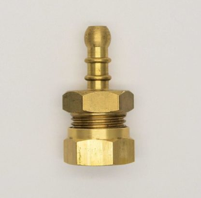 """British Made 1/2"""" Compression Fitting To Lpg Fulham Nozzle To 8Mm I/D Hose (48)"""