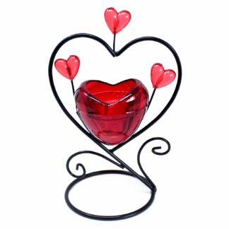 Single Heart In Heart Tea Light Romantic Candle Holder (Romch-15)
