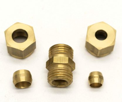 British Made 10Mm To 8Mm Reducing Brass Compression Fitting  (66)