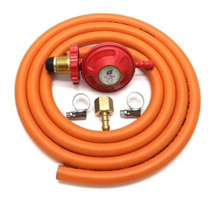 Igt 37Mbar Hand Wheel Propane Gas Regulator Hose Kit For Uk Outback Models