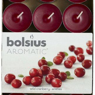 24 X Bolsius Aromatic Wild Cranberry 4Hr Tealights Candles
