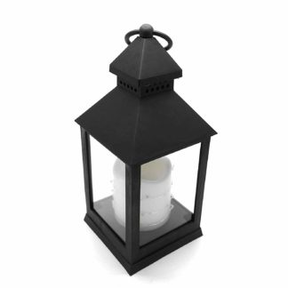 24Cm Antique Black Led Traditional Hanging Outdoor/Indoor Lantern