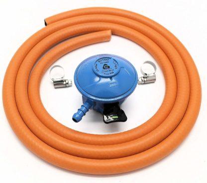 Cavagna 20Mm 28Mbar Butane Gas Regulator & 1 M Hose & 2 Hose Clips 5 Y Warranty