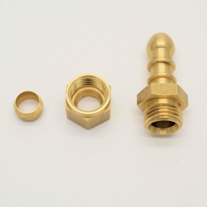British Made 5/16 Compression Fitting To Lpg Fulham Nozzle To 8Mm I/D Hose (81)