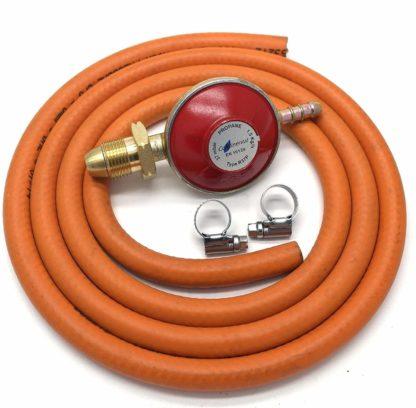 Propane Gas Regulator 37Mbar With 1M Hose & 2 Clips Fits Calor Gas / Flogas