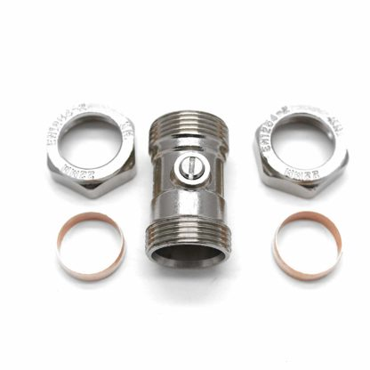 1 X Isolating Valve Chrome Plated 15Mm X 15Mm