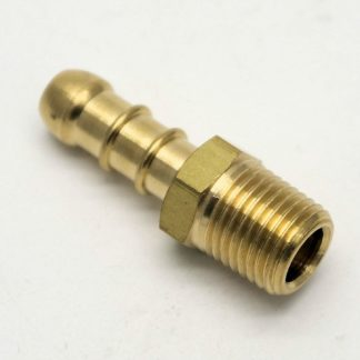 "British Made 1/4"" Bspt Male Fitting To Lpg Fulham Nozzle To 8Mm I/D Hose (24)"