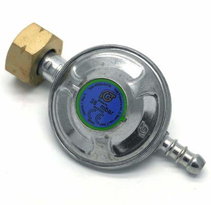 Igt 4.5 Butane Gas Regulator & 1 Mt Hose + 2 Clips For Calor 4.5Kg Cylinder