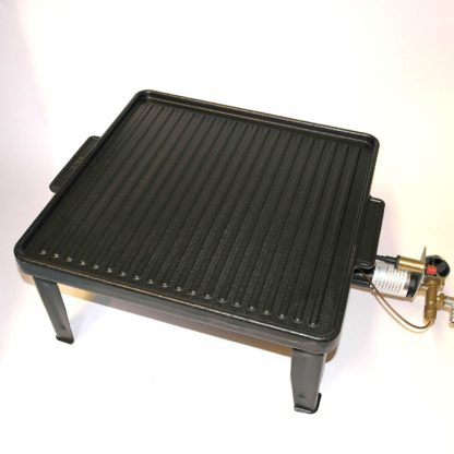 Large Cast Iron Double Sided Griddle Plate Fits Up To 400 X 400 Boiling Rings