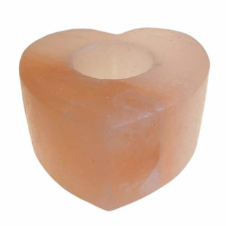 2 X Himalayan Salt Candle Holder Heart Shaped Size Med (Salt-31)