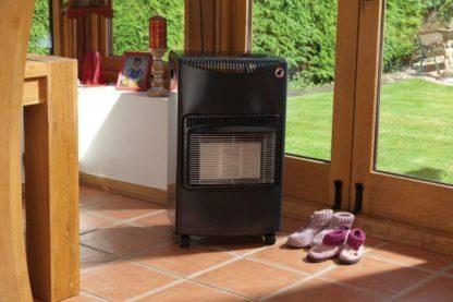 Season Warmth Gloss Black / Gray Mobile Cabinet Heater Mobile Calor Gas Heater