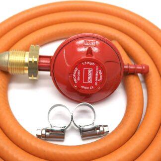 Calor Gas Brand 37Mbar Propane Gas Regulator 1Mt Hose & 2 Clips 5 Year Warranty