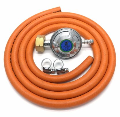 Igt 4.5 Butane Gas Regulator & 1 Mt Hose + 2 Clips For Calor 4.5Kg Cylinder