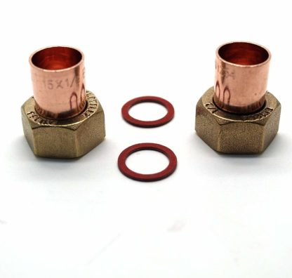"""2 X 15Mm X 1/2"""" End Feed Copper Straight Tap Connector (122)"""