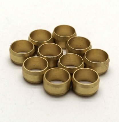 British Made 10 X 6Mm Brass Olives (1)