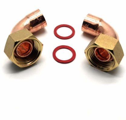 """2 X 15Mm X 1/2"""" End Feed Copper Bent Tap Connector (115)"""