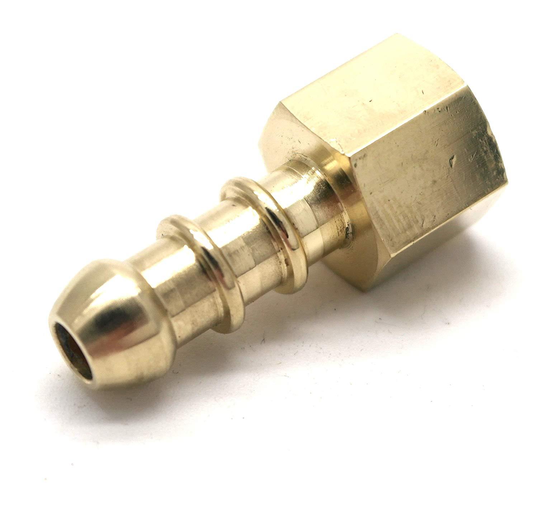 """LPG hose 1//4/"""" BSP female to 10mm Fulham nozzle."""