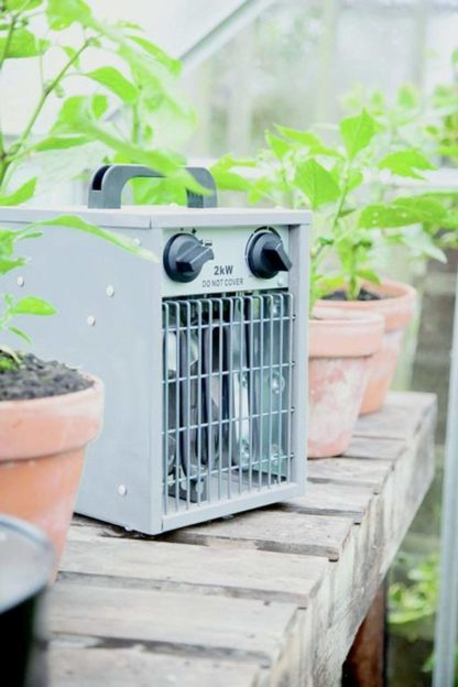 Electric Greenhouse Heater With Thermostat 1Kw 2Kw Or Fan Only