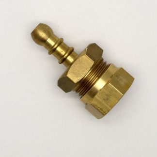 "British Made 1/2"" Compression Fitting To Lpg Fulham Nozzle To 8Mm I/D Hose (48)"