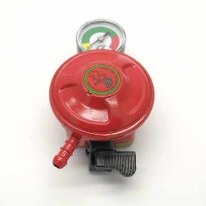 Igt Patio Gas 27Mm Regulator With Pressure Gauge & 1M Hose +2 Clips 5 Y Warranty