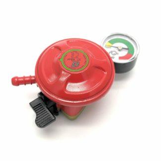 Igt Patio Gas Regulator With Pressure Gauge 27Mm Clip On 5 Year Warranty