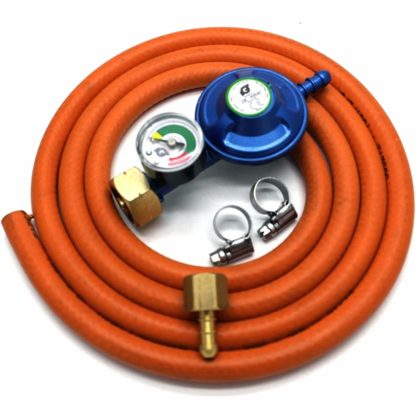 Igt 4.5Kg Butane Gas Regulator & Pressure Gauge Hose Kit For Uk Outback Models